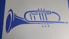 Schablone 459 Trompete Tattoo Stencil Leinwand Textilgestaltung Airbrush Engel