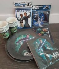 Star Wars Party Set for 12 (Plates, Cups, Napkins, Tablecloth, Invites)