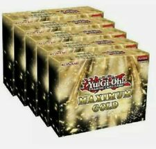Yugioh Maximum Gold Factory Sealed Display Box 5 Mini Boxes Presale Ships 11/13
