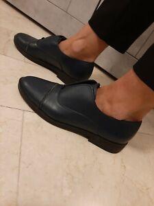 Scarpe Basse Francesine Vera Pelle Donna Blu 40