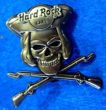 ONLINE PIRATE MUSKET RIFLE GUNS 3D SILVER SKULL SERIES Hard Rock Cafe PIN LE100