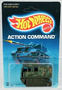 Hot Wheels Assault Crawler Action Command Series #3338 New NRFP 1986 Olive 1:64