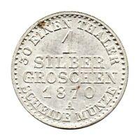 KM# 485 - 1 Silber Groschen - Wilhelm I - Kingdom of Prussia - Germany 1870 (AU)