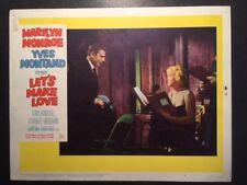 MARILYN MONROE VINTAGE ORIGINAL 1960 LOBBY CARD, #4 OF SERIES, FOR LET'S MAKE LO