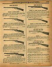 1926 PAPER AD 3 PG Daisy King Quackenbush Benjamin Air Rifle Marbles Game Getter