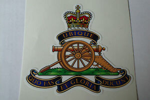 """2 X   ROYAL ARTILLERY REGIMENT  STICKERS  4"""" BRITISH ARMY USA  MILITARY INSIGNIA"""