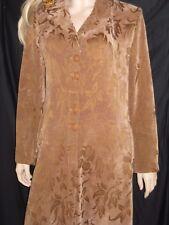 Good Large 48 beige floral abaya dress button front jilbab over coat Islam