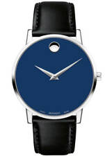 Movado Museum Classic Blue Dial Leather Strap Men's Watch 0607270