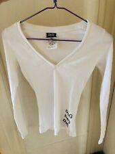 Authentic 90s Dolce&Gabbana White Ribbed Logo Tank Top Shirt Xs Netaporter Italy