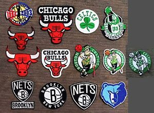 Chicago Bulls,Celtics,Nets,Memphis Basketball Patches Logo Iron,Sewing on Cloth