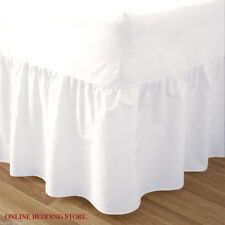House of Windsor Plain Dyed Valance Sheet Poly-Cotton Bed Sheet