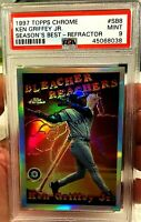 KEN GRIFFEY JR 1997 TOPPS CHROME REFRACTOR #SB8 PSA 9 POP 6 VERY RARE MARINERS