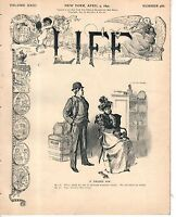 1894 Life April 5-Women hired ship to travel world against vice-wants Mark Twain
