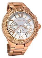 MICHAEL KORS MK5636 CAMILLE Chronograph Rose Gold Crystal Bezel Women Watch