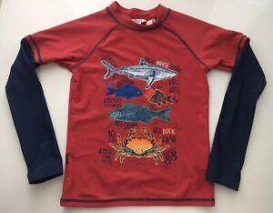 Fat Face Rash Vest Kids Swimwear 8 9 Years