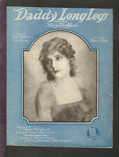 Daddy Long Legs 1919 Mary Pickford Silent Film Vintage Sheet Music