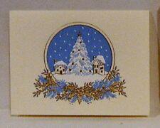 Ten Crane & Company Ecru Winter Scene Enclosures and Ten Ecru Envelopes - NIB