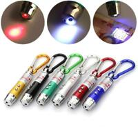 Mini 3 In 1 Laser Pointer Pen LED Light Kid Cats Toy Money Detector Keychain