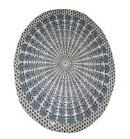 Indian Round Table Cover Table Decor Wedding Cloth White Color Mandala Print