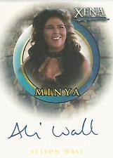 "Xena Art & Images - A54 Alison Wall ""Minya"" Binder Autograph Card"