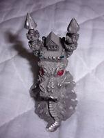 "1980 RF674 Fantasy Magic Dragon Pewter Jeweled Eyes Castle Dragon 2.5"""