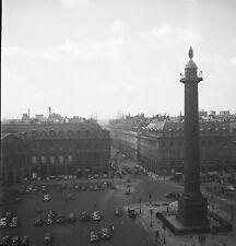 PARIS c. 1947 - Autos Circulation Place Vendôme  - Négatif 6 x 6 - N6 P98