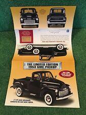 "Danbury Mint ""The 1953 GMC Pickup Limited Edition.""  Brochure!"
