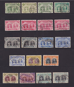 Rhodesia. 1910-13. 1/2d to 1/-, used selection.