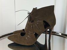 M&s Insolia Schuh Grösse 6 39 braun Wildleder Stilettoabsatz Ausschnitt Brandneu