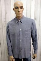 MISSONI Camicia Uomo Taglia XL Seta Cotone Shirt Chemise Casual Manica Lunga