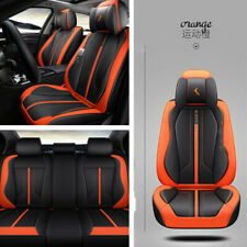 1 Set 6D Microfiber Leather Automobile Seat Cover Front+Rear Cushions Breathable