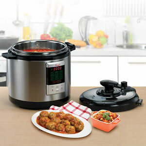 Pressure Cooker Instapot 6Qt Digital Slow Cooker Multifunction Cooker 12 Presets