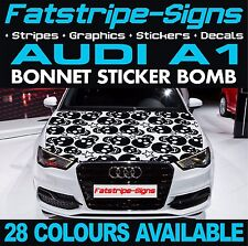 AUDI A1 GRAPHICS BONNET STICKER BOMB ROOF CAR GRAPHICS DECALS STICKERS 1.6 SKULL
