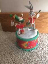 Looney Tunes Bugs Bunny Paint Your Hoilday Bright Music Box Warner Brothers 1997