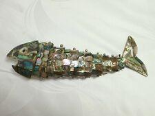 Perlmutt Fisch beweglich, groß, 20,5 cm