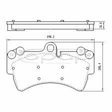 Bremsbelagsatz Scheibenbremse BB08158 Vorderachse  Honda Accord