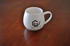 New 2 pcs set white bone china Mug coffee tea cup 300ml