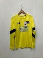 Under Armour UA Men's LS AZ Alkmaar FC GK Shirt - Large - Yellow - New
