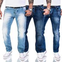 Rock Creek Herren Jeans Hose Comfort Fit Stonewashed Used Look M40 NEU W29-W44
