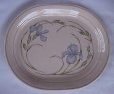 Corner Stone by Corning ~ Blue Lilies Oval Platter ~ *** NICE ***