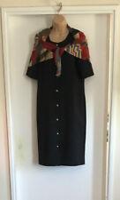 Vintage Estilo Militar Negro Armani Damas Vestido y abrigo chal a juego Talla 12