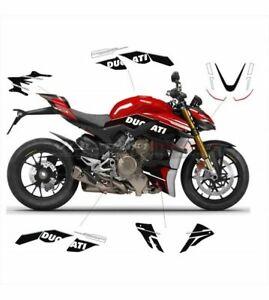 """V1011 Aufkleber Kit """"Black Custom Design"""" Ducati Streetfighter V4 / V4S"""