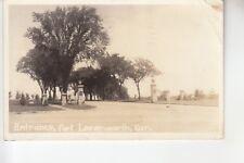 Real Photo Postcard Entrance to Fort Levenworth KS