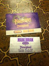 DISNEYLAND FANTASMIC 1992 TICKET & Map Sleeve Vintage 95.5 Klos Mark Brian Rare
