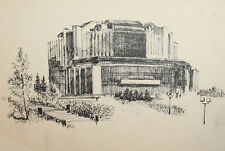 Vintage ink cityscape drawing