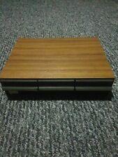 Vintage Wooden effect retro Cassette Tape Holder Storage Case 36 Tapes 3 Drawers
