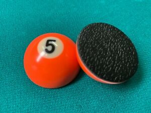 """Pocket Marker (5 ball) - Small half ball (1.5"""")  with rubber base"""