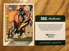 Rod Woodson Signed 1991 Pacific Autograph Card SGC Certified - Steelers