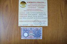 BIGLIETTO DI STATO LIRE 5 VITTORIO EMANUELE III 1923 RARA certificata qFDS