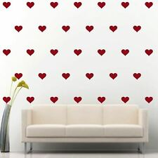 "90 of 4"" Dark Red Heart DIY Removable Peel & Stick Wall Vinyl Decal Sticker"